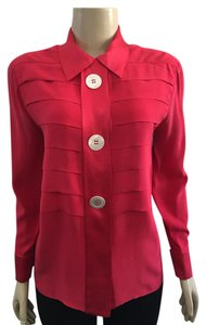 Chanel Button Down Shirt Red