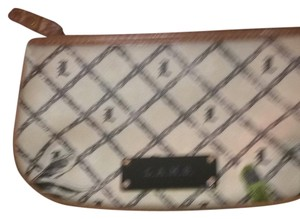 L.A.M.B. Wristlet in beige and tan