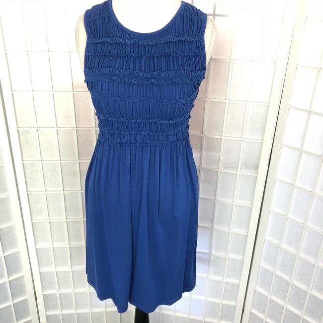 Max Studio short dress MonaBlue Sleeveless Gathered Top Short Blue on Tradesy Image 2