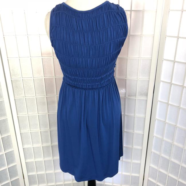 Max Studio short dress MonaBlue Sleeveless Gathered Top Short Blue on Tradesy Image 3