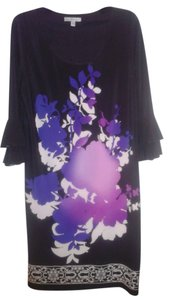 Sandra Darren Artistic 3/4 Sleeve Dress