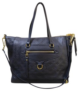 Louis Vuitton Lv Empreinte Lumineuse Pm Calfskin Satchel in dark navy
