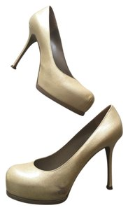 Saint Laurent Ysl Tribtoo Tribute Pearl Biege Pearl Pumps