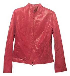 Express hot pink Leather Jacket