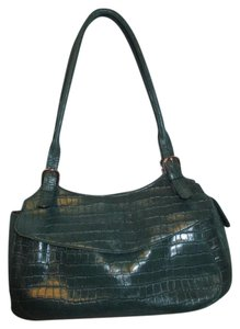 Maxx New York Leather Croc Satchel in green