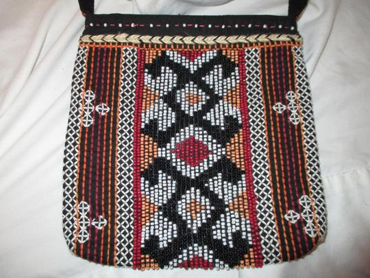Chico's Cotton Beaded Embriodered Cross Body Bag Image 2