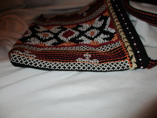 Chico's Cotton Beaded Embriodered Cross Body Bag Image 3