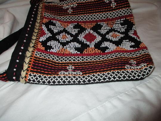 Chico's Cotton Beaded Embriodered Cross Body Bag Image 5