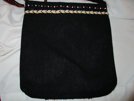 Chico's Cotton Beaded Embriodered Cross Body Bag Image 6