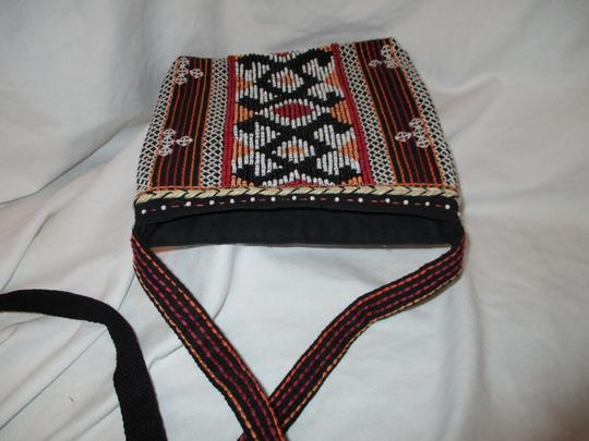Chico's Cotton Beaded Embriodered Cross Body Bag Image 9