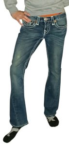 True Religion Blue Denim Pants Boot Cut Jeans-Dark Rinse