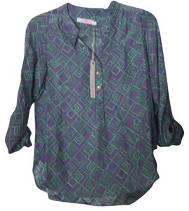 Alice & Trixie & & Dylan Silk Top purple and green