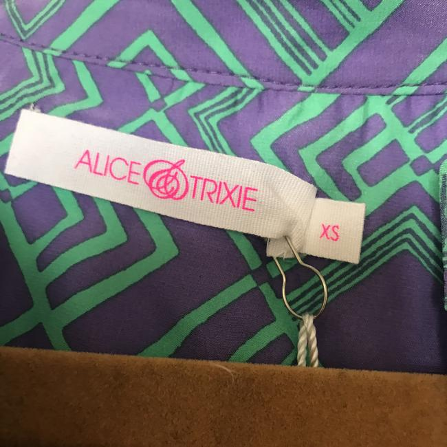 Alice & Trixie Dylan Silk Top purple and green Image 2
