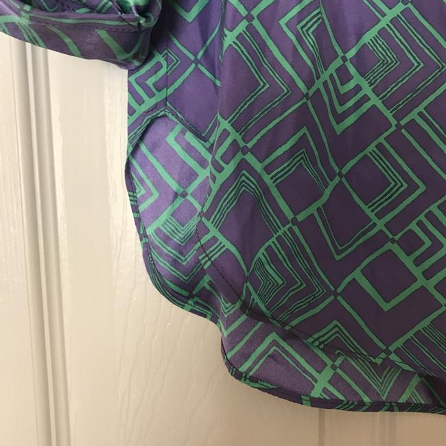 Alice & Trixie Dylan Silk Top purple and green Image 3