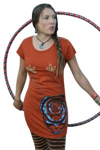 Grateful Dead short dress Rust Hippie Boho The Treasured Hippie Music Handmade on Tradesy