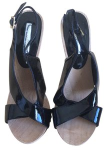 Halston Black Platforms