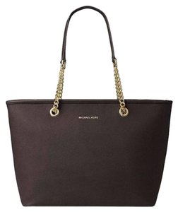 Michael Kors Travel Leather Tote in Brown