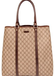 Gucci Gg Monogram Canvas Weekend Travel Tote in Brown