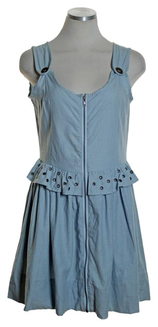 Preload https://img-static.tradesy.com/item/20941940/lf-blue-chambray-full-zip-sleeveless-ruffle-short-casual-dress-size-8-m-0-1-650-650.jpg