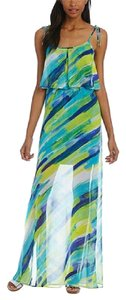 Blue and Green Maxi Dress by Calvin Klein
