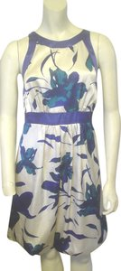 Alyn Paige Strapless Blue Ivory Teal Empire Waist Dress