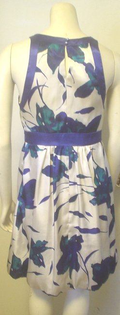 Alyn Paige Strapless Blue Ivory Teal Empire Waist Dress Image 1