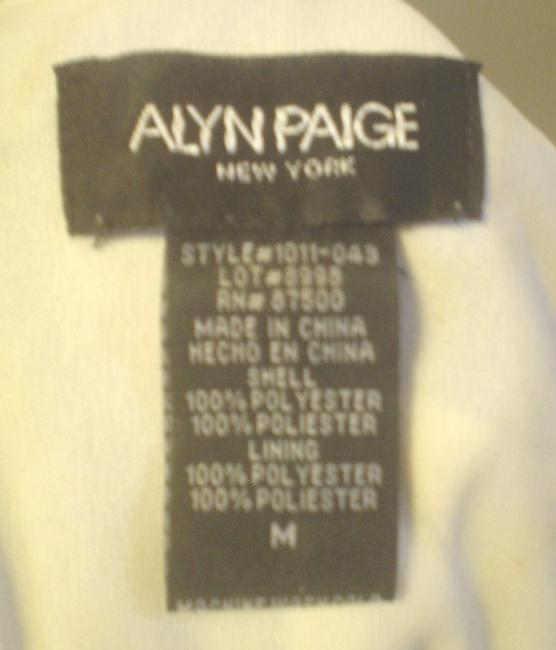 Alyn Paige Strapless Blue Ivory Teal Empire Waist Dress Image 5