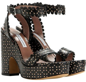 Tabitha Simmons Perforated Cut-out Black Sandals
