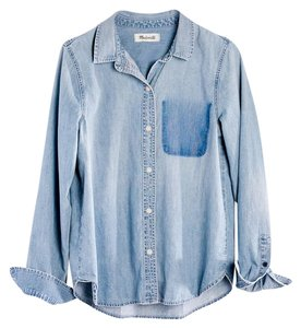 Madewell Button Down Shirt Light Blue