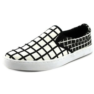 Wild Pair Checkered Canvas Sneakers Black White Athletic