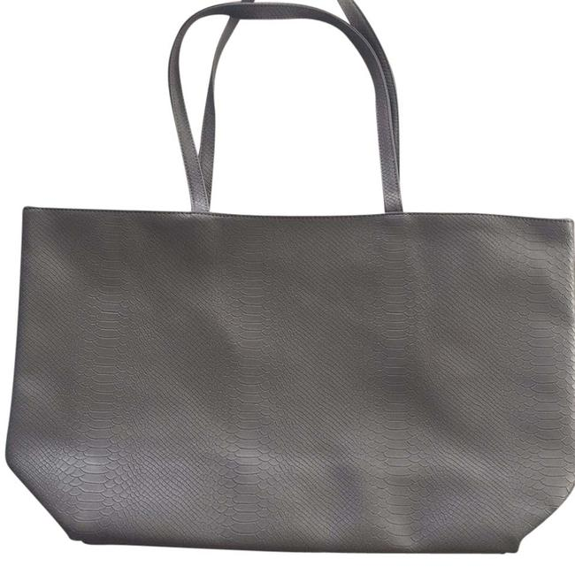Item - Gray Leather Upper Tote