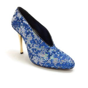 Lanvin Sequin Metallic blue Pumps