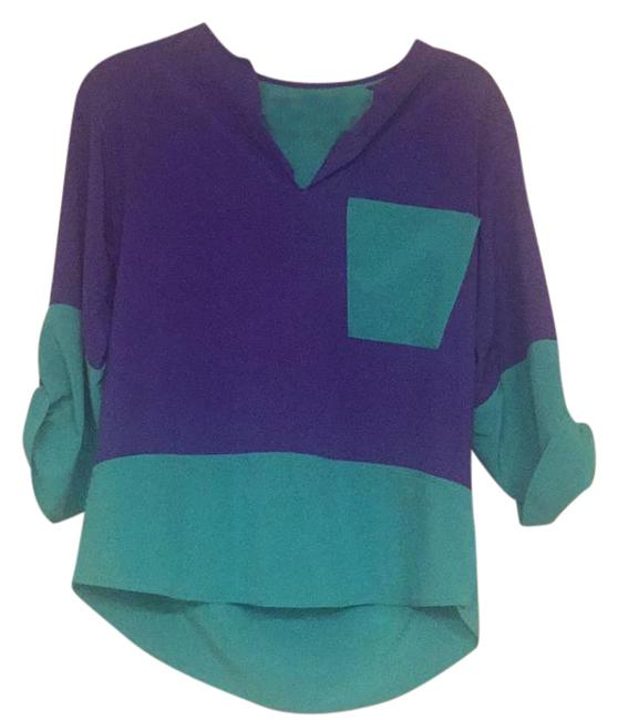 Preload https://img-static.tradesy.com/item/20942474/lucy-love-blueteal-colorblocked-blair-kk3237-blouse-size-8-m-0-3-650-650.jpg