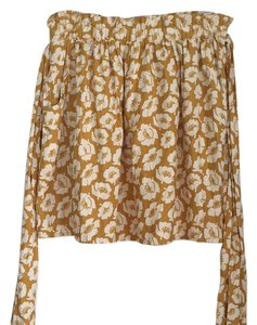 American Eagle Outfitters Mini Skirt White And Gold