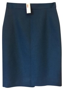 J.Crew Wool Pencil Skirt blue- DTU