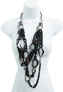 Alexis Bittar ALEXIS BITTAR 3 Strand Chain, Stone, Resin and Wood Long Necklace