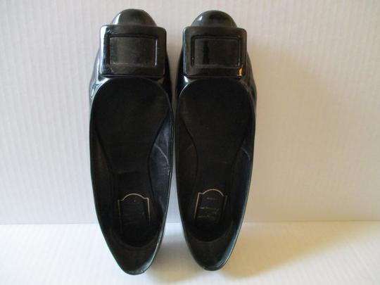 Roger Vivier Patent Ballerina Buckle Made In Italy Green Flats Image 1