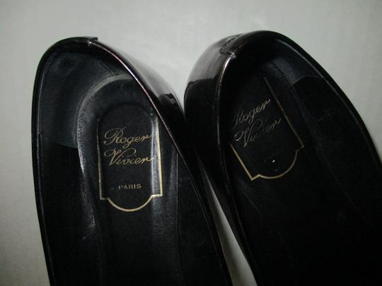 Roger Vivier Patent Ballerina Buckle Made In Italy Green Flats Image 3
