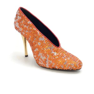 Lanvin Sequin Metallic orange Pumps