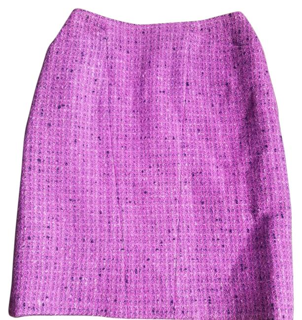 Chanel Pink Tweed Wool Blend Skirt Size 0 (XS, 25) Chanel Pink Tweed Wool Blend Skirt Size 0 (XS, 25) Image 1