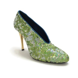 Lanvin Sequin Metallic green Pumps