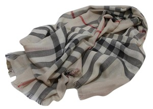Burberry Burberry Giant Check Print Wool & Silk Scarf