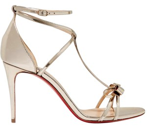 Christian Louboutin Blakissima 85mm Red Sole gold Sandals
