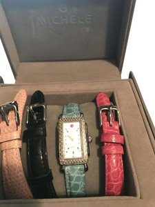 Michele Michele Deco mini with Diamonds 4 exchangeable Brands all Micheles