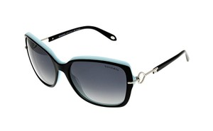 Tiffany & Co. NEW Twist Sunglasses TF4101 c. 8055/T3 Black & Tiffany Blue polarized