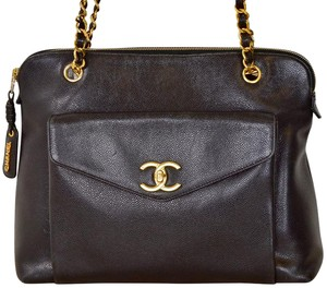 Chanel Caviar Leather Caviar Leather Quilted Shoulder Bag