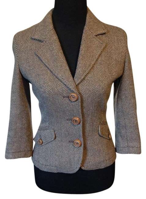 Preload https://img-static.tradesy.com/item/20943215/fossil-brown-tweed-gold-highlighted-thread-crop-sleeve-blazer-size-4-s-0-2-650-650.jpg