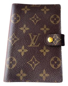 Louis Vuitton Louis Vuitton Agenda Pm Brown wallet
