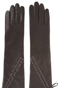 BCBGMAXAZRIA BCBG Lace-Up Leather Gloves