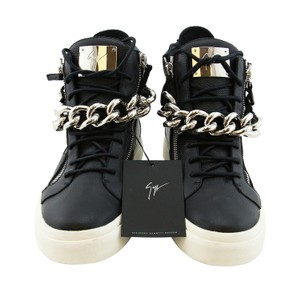 4cfd1bfdb3011 Giuseppe Zanotti Black New Men Leather Chain Double Zipper High-top ...